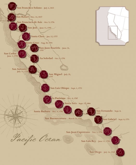 ruta mision santa barbara california